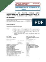 INFORME MENSUAL DEL RESIDENTE DE OBRA.doc