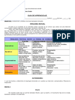 1° y 2° medio  Lenguaje Guía tipologia textual