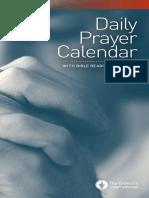 Calendario Mundial de Oracion Gedeones 2015-2016