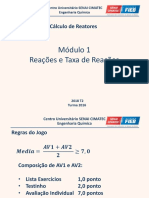 Cálculo de Reatores - Módulo I