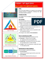 16.04.2019 Fire Traingle and Its Importance.