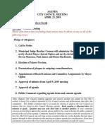 Craig City Council April 23, 2019 agenda