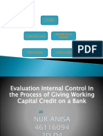 evaluation internal control in the process of  giving