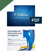 Tecnologías de Información Para Los Negocios - Apoyos Visuales Temas 1 y 2