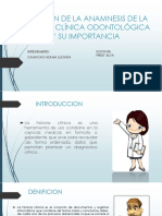 Historia Clínica Patologia Medicna