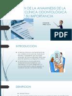 Filiación de La Anamnesis de La Historia Clínica Patologia Medicna Autoguardado