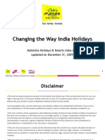 Mahindra Holidays-An Overview(as of Dec 2009)