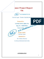 dealer satisfaction in A.g.industries