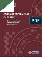 carga de enfermedad en el Peru