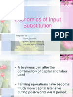 Economics of Input Substitution