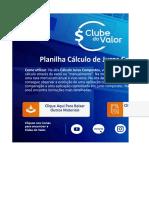 CLUBE DO VALOR - Planilha Cálculo Juros Compostos