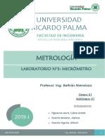 LABORATORIO N°3 DE METROLOGIA