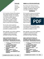 Himno a La Policia Escolar Oficial.