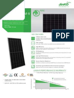 EN Cheetah PERC HC 72M 380-400W-V pdf | Solar Cell | Nature