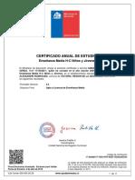 Certificado Enseñanza Media