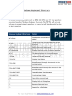 Windows Keyboard Shortcuts PDF Download for Competitive Exams by EntranceGeek