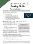 notetaking skills