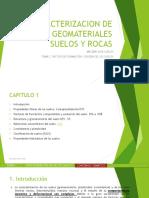 caracterización suelos y rocas