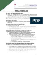 FAQs PSBank Flexi Personal Loan