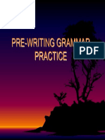 Pre-writing Grammar Practice