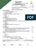 Evaluacion Diagnostica Biologia 3BGU 2018 2019