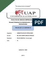 Trabajo Academico Des. Administracion de Operaciones