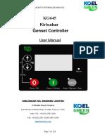 Kirloskar KG645 - User manual for genset controller.pdf