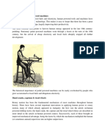History of Early Pedal Powered Machines
