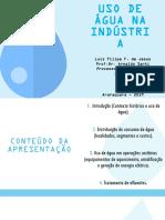 Uso de água na industria