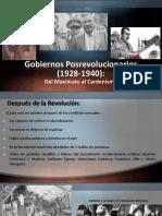 Gobiernos Posrevolucionarios (1928-1940)
