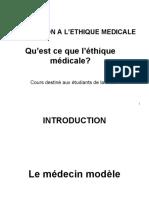 ETHIQUE MEDICALE