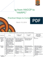 Moving From HACCP to HARPC - The Practical Steps to Compliance