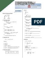 Compendio Algebra 3ro Secundaria