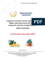 Esquema de Gestión de Gerencia Administrativa Pública DGSIAS MSPAS%2c Regionalización AGENDA SIAS