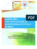 Nanopharmaceuticals-iEvaluation Guidelines Draft