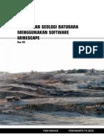 Modul Pemodelan Geologi Batubara Menggunakan Software Minescape