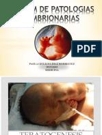 Patologías Embrionarias