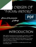 High origin of facial artery