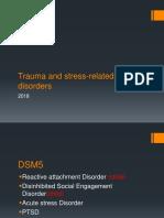 Trauma and Stress-related Disorders January 2017-2018-PTSD