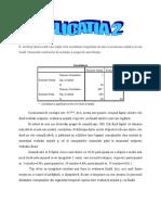 Aplicatia 2- Analiza Coeficientului de Corelatie