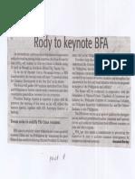 Daily Tribune, Apr. 22, 2019, Rody to keynote BFA.pdf