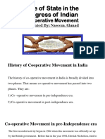 Role of State in the Progress of Indian cooperative movement