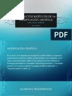 Conflictos Bioéticos de La Modificación Genética