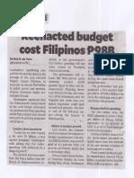 Inquirer, Net, Apr. 22, 2019, Reenacted budget cost Filipinos P98B.pdf