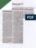 Manila Bulletin, Apr. 22, 2019, Camarines Norte eyed as Bicol surfing capital.pdf