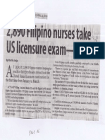 Manila Standard, Apr. 22, 2019, 2,890 Filipino nurses take US licensure exam - Bertiz.pdf