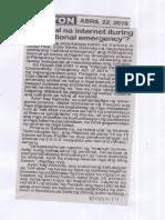 Ngayon, Apr. 22, 2019, Mabagal na internet ituring na national emergency.pdf