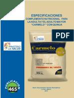 Especificaciones Tecnicas Carmelo Con Quinua-Abril 2019