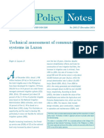 Technical assessment of communal irrigation systems in Luzon