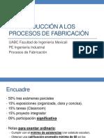 1. Introducción a Los Procesos de Fabricación
